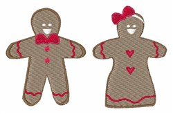 Gingerbread embroidery design