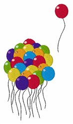 Bunch Of Balloons embroidery design