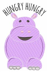 Hhungry Hippo embroidery design