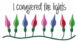 Conquered Lights embroidery design