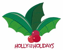 For The Holidays embroidery design