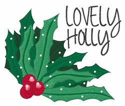 Lovely Holly embroidery design