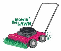 Mowin The Lawn embroidery design