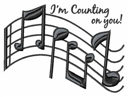 Counting On You embroidery design