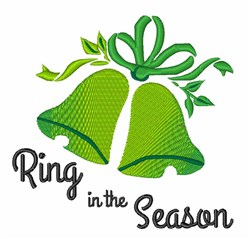 Ring in Season embroidery design