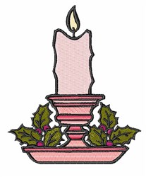 Holly Candle embroidery design