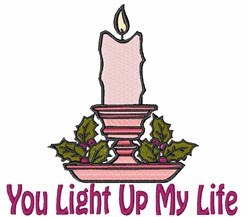 Light Up My Life embroidery design
