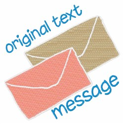 Text Message embroidery design