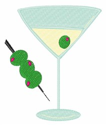 Martini Olives embroidery design