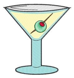 Martini embroidery design