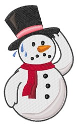 Hot Snowman embroidery design