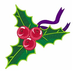 Xmas Holly embroidery design