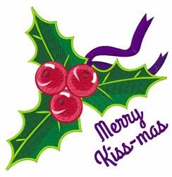 Merry Kiss-mas embroidery design
