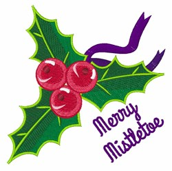 Merry Mistletoe embroidery design
