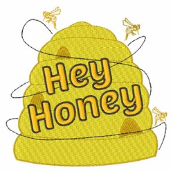 Hey Honey embroidery design