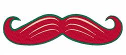 Moustache embroidery design