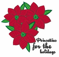 Poinsettias For Holidays embroidery design