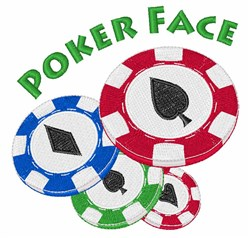 Poker Face embroidery design