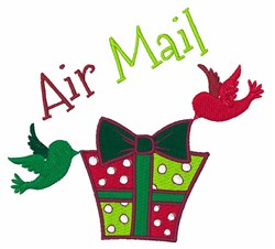 Air Mail embroidery design
