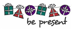 Be Present embroidery design
