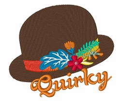 Quirky Hat embroidery design