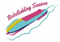 Bobsledding Season embroidery design