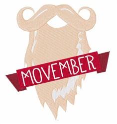 Movember embroidery design