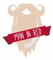 Man In Red embroidery design