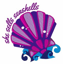 She Sells Seashells embroidery design