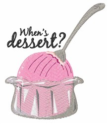 Whens Dessert embroidery design