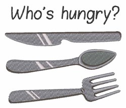 Whos Hungry? embroidery design