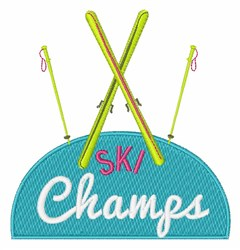 Ski Champs embroidery design