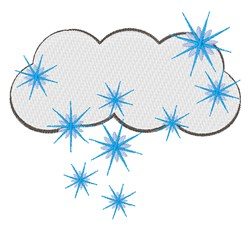Snowy Cloud embroidery design