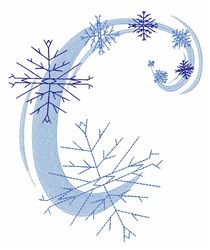 Snowflakes embroidery design