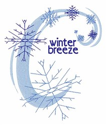 Winter Breeze embroidery design