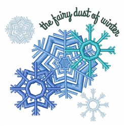 Winter Fairy Dust embroidery design