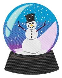 Snowman Snowglobe embroidery design