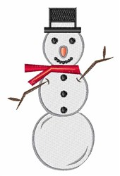 Winter Snowman embroidery design