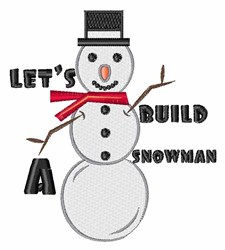 Build Snowman embroidery design