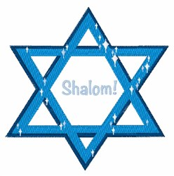 Shalom embroidery design