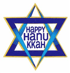 Happy Hanukkah embroidery design