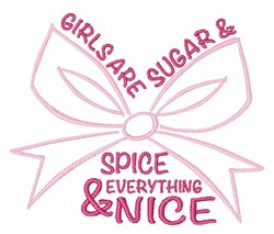 Sugar & Spice embroidery design