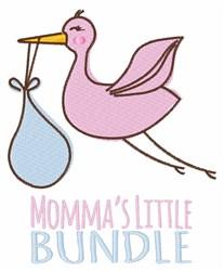 Mommas Little Bundle embroidery design