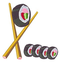 Sushi Rolls embroidery design