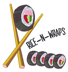Rice N Wraps embroidery design
