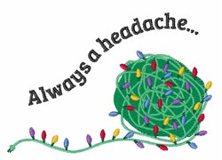 A Headache embroidery design