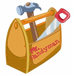 Mr Handyman embroidery design