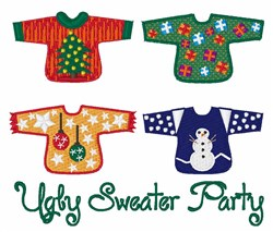 Ugly Sweater embroidery design