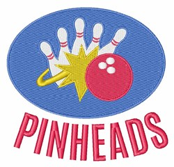 Pinheads embroidery design