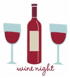 Wine Night embroidery design